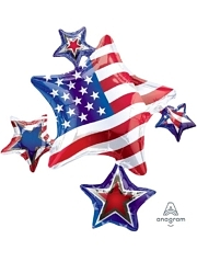 "35"" Amercian Spirit Cluster Patriotic Balloon"