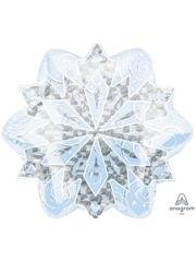 """18"""" White Christmas Snowflake Balloon"""