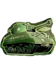 "26"" Army Tank Birthday Camouflage Balloon"