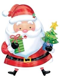 "31"" Santa With Tree Christmas Holiday Balloon"