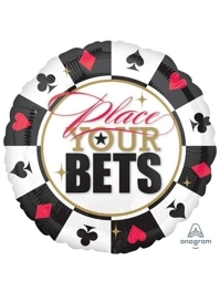 "32"" Place Your Bets Casino Poker Balloon"