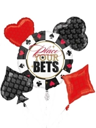 Place your Bets Casino Poker Balloon Assortment