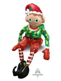 "29"" Sitting Elf Christmas Balloon"