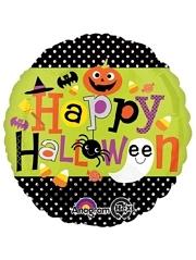 """18"""" Halloween Polka Dots Balloon"""