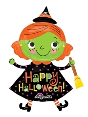 "37"" Halloween Cute Witch Balloon"