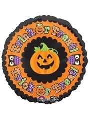 "18"" Trick or Treat Pumpkin Halloween Balloon"