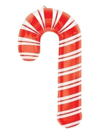 "37"" Holiday Candy Cane Christmas Balloon"