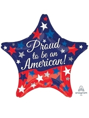 "19"" Proud To Be An American Patriotic Balloon"