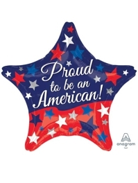 """19"""" Proud To Be An American Patriotic Balloon"""