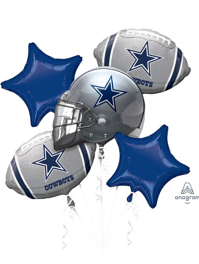 Dallas Cowboys NFL Team Balloon Bouquet Assortment