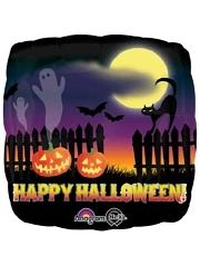 """18"""" Haunted Halloween Scene Balloon"""