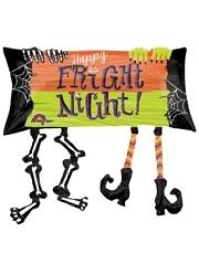 """33"""" Happy Fright Night Halloween Balloon"""