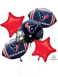 Houston Texans NFL Team Balloon Bouquet Assortment