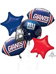 NY Giants NFL Team Balloon Bouquet Assortment