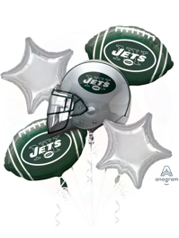 NY Jets NFL Team Balloon Bouquet Assortment