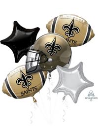 New Orleans Saints NFL Team Balloon Bouquet Assortment