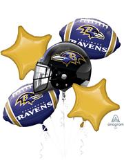 Baltimore Ravens NFL Team Balloon Bouquet Assortment
