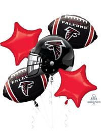 Atlanta Falcons NFL Team Balloon Bouquet Assortment