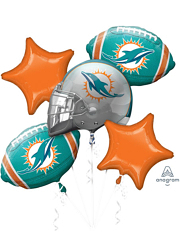 Miami Dolphins NFL Team Balloon Bouquet Assortment