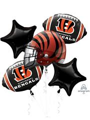 Cincinnati Bengals NFL Team Balloon Bouquet Assortment