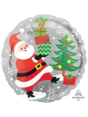 "18"" Santa, Snowman & Penguins Christmas Balloon"