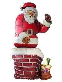 """53"""" Santa & Chimney Christmas Balloon"""