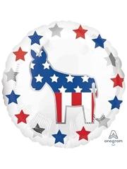 """18"""" Election Democrat Patriotic Balloon"""