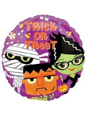 "18"" Trick or Treat Monsters Halloween Balloon"