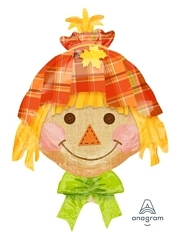 "26"" Happy Scarecrow Autumn Balloon"