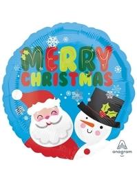 "18"" Santa & Snowman Christmas Balloon"