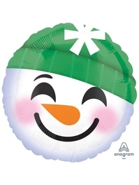 "18"" Snowman Emoticons Christmas Balloon"