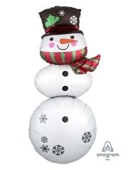 "61"" Snowman Stacker Christmas Balloon"