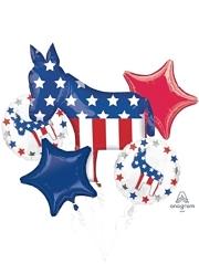Election Democrat Patriotic Balloon Assortment
