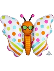 "30"" Fun In the Sun Butterfly Balloon"