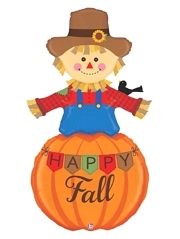 "60"" Happy Fall Scarecrow Thanksgiving Balloon"