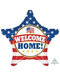 """19"""" Welcome Back Patriotic Balloon"""