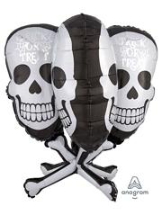 """31"""" Skull Bones Halloween Balloon"""