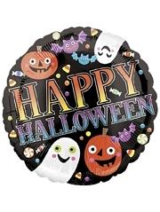 """18"""" Pumpkins, Ghosts & Bats Halloween Balloon"""