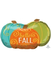 "29"" Hello Fall Pumpkins Autumn Balloon"