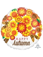 "18"" Autumn Mums Thanksgiving Balloon"
