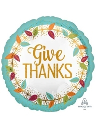 "18"" Give Thanks Thanksgiving Balloon"