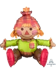 "20"" Sitting Scarecrow Autumn Balloon"