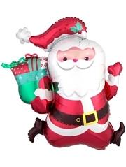 """30"""" Running Santa Christmas Balloon"""