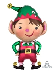 "35"" Jolly Christmas Elf Holiday Balloon"