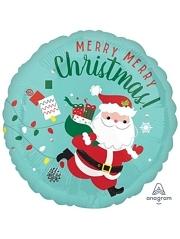 """18"""" Christmas Running Santa Balloon"""