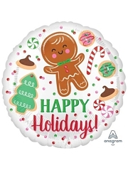 "18"" Holiday Cookies Christmas Balloon"