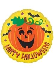 """18"""" Halloween Pumpkin & Bats Balloon"""