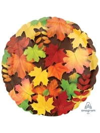 "18"" Colorful Leaves Thanksgiving Balloon"