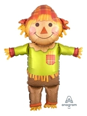 "38"" Fall Happy Scarecrow Autumn Balloon"