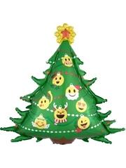 "34"" Emoticon Christmas Tree Balloon"